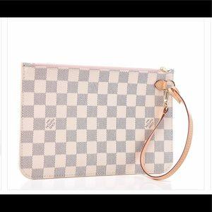 Authentic Louis Vuitton NEW Pochette Azur pink